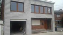 Facade siding gris requin grand axe